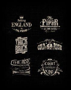 Music Album Logotypes by Oran Almog, via Behance