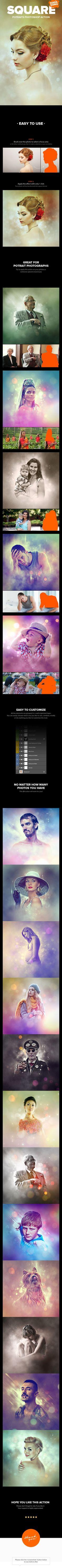 Square Potraits Photoshop Action - Photo Effects Actions