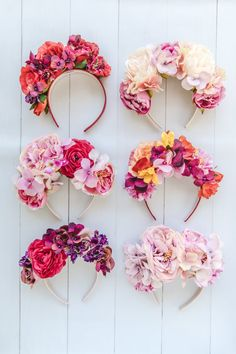 My Top 10 Favourite Flower Crowns - Connie and Luna Diy Flower Crown, Diy Crown, Diy Flowers, Flower Crowns, Flower Head Wreaths, Flower Crown Headband, Floral Headdress, Flower Headpiece, Halloween Torte