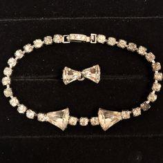 Vintage Signed Kramer Rhinestone Bracelet & Brooch/Pin Set Demi Parure    eBay