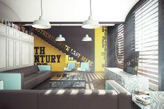 Art Center Loft by Jan Sekuła, via Behance