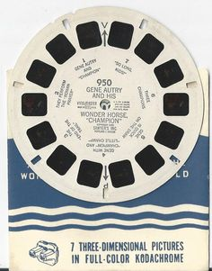 Gene Autry and his Wonder Horse Champion View-Master Reel by COLLECTORSCENTER on Etsy