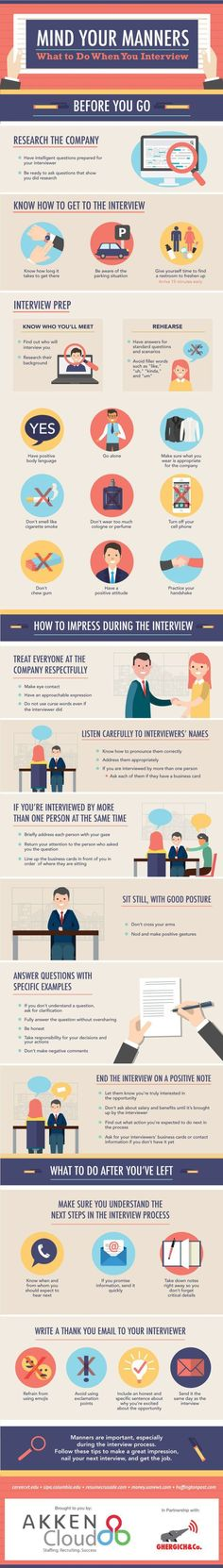 Find out more JOB INTERVIEW tips on Tipsographic.com
