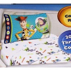 toy story sheet set thats on Jacobs Race Car Bed, with Cars Comfortor