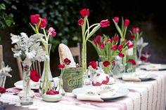 Top 35 Summer Wedding Table Décor Ideas To Impress Your Guests Tulip Wedding, Wedding Centerpieces, Wedding Table, Wedding Decorations, Red Wedding, Wedding Bouquets, Anemone Wedding, Wedding 2015, Wedding Themes