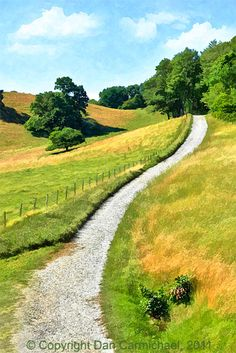 Trail from the Moses Cone Manor House along the Blue Ridge Parkway, Blowing Rock, North Carolina