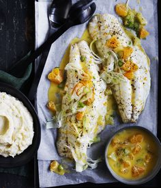 Roast+snapper+with+mandarin+and+fennel+sauce