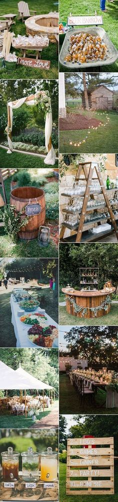 trending rustic backyard wedding ideas for 2017 Related Cool Ways To Use Rustic Wood Pallets In Your Wedding Decor: Wedding The couple was able to use the venue's alcohol ideas to decorate your ceiling on D-day - # decorate # ideas . Wedding Seating, Rustic Wedding, Wedding Reception, Trendy Wedding, Wedding Ideas, Wedding Vintage, Reception Ideas, Vintage Diy, Wedding Signs