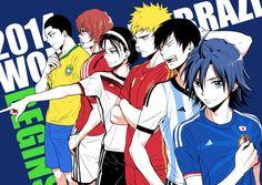 ところでついにブラジルW杯開幕しましたね!!応援してる国が一杯あって試合観戦は時間との戦いですが、何とか追いたい…!そしてテンション上がりすぎてついこんな落書きなど…ユニフォームは自分が応援してる国と優勝候補から!頑張れ日本!!