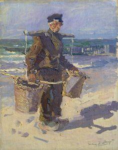 The shell fisher - Rijksmuseum - Jan Toorop - Art Nouveau, Dutch Painters, Mid Century Art, Dutch Artists, Modern Artists, Jaba, Art Reproductions, Artist Art, Art Google