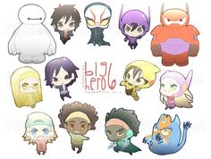 Big Hero 6 stickers by TraumaTize on Etsy