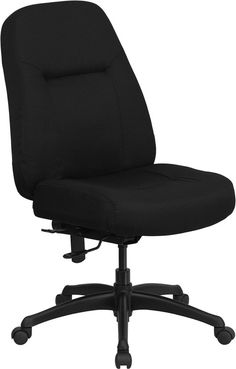 HERCULES Series 400 lb. Capacity High Back Big & Tall Black Fabric Executive Swivel Office Chair with Extra WIDE Seat-HERCULES Series 400 lb. Capacity High Back Big & Tall Black Fabric Executive Swivel Office Chair with Extra WIDE Seat