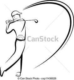 Golfer teeing off stylized Clipart Vector Graphics. 10 Golfer teeing off stylized EPS clip art vector and stock illustrations available to search from thousands of royalty free illustrators Clipart Black And White, Black And White Drawing, Owl Stencil, Stencils, Golf Drawing, Birthday Painting, Golf Art, Vintage Golf, Art Icon