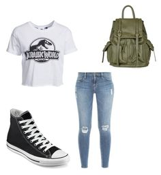 """""""Jurassic world"""" by sabrina-palmer ❤ liked on Polyvore featuring moda, New Look, Frame Denim, Converse i Topshop"""