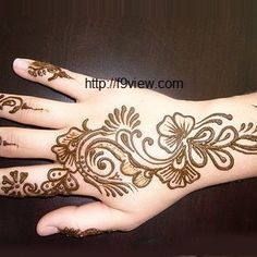 Unique & creative simple, easy, trendy, latest Arabic mehndi designs for Eid 2014, 50 quick Arabic henna hand designs are available free download patterns.