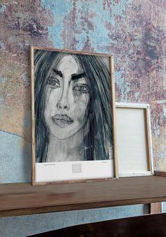 VuorjokiDesign-poster-art-print-50×70-B3-Obsession-shop Online Posters, Interior Inspiration, Cool Art, Art Prints, Frame, Artist, Shop, Design, Home Decor
