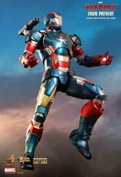 Hot Toys Iron Man 3 Movie Masterpiece Series - Iron Patriot Scale Die Cast 12 Inch Doll Figure in Figures. Iron Man 3, Iron Man Fan Art, Hot Toys Iron Man, Iron Man Suit, Iron Man Armor, Marvel Comic Universe, Batman Universe, Marvel Cinematic Universe, Marvel Heroes