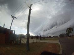 Cyclone making landfall, Western Australia