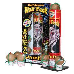 Phantom Fireworks® Wolfpack High Performance Shell: Assorted special effect shells with high altitude. Sensational! 6 shells per kit plus 7th bonus shell.