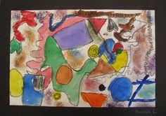 1st grade Joan Miro line and shape paintings