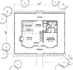 First Floor Plan image of The Charlotte House Plan