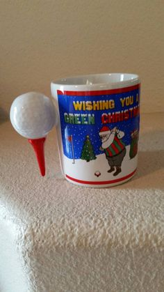 Check out this item in my Etsy shop https://www.etsy.com/listing/250608789/unique-papel-golf-green-christmas-mug