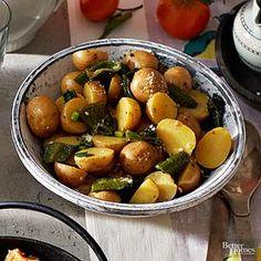 Jalapeno brine gives this potato salad plenty of kick.