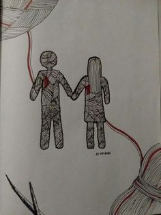 Together forever thread doodle