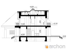 Dom w hibiskusie Bungalow Style House, Facade House, Floor Plans, How To Plan, Detached House, Projects, House Facades, Floor Plan Drawing, House Floor Plans