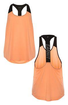 Peach Elastic Back Earn It Workout Vest