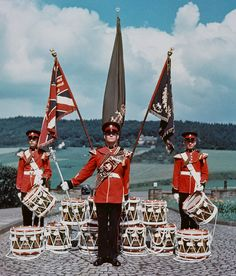 The Colours of The Second or Queen's Royal Regiment Army Dress Uniform, British Uniforms, British Armed Forces, Drum Major, Her Majesty The Queen, Drummers, British Army, Princess Of Wales, Surrey