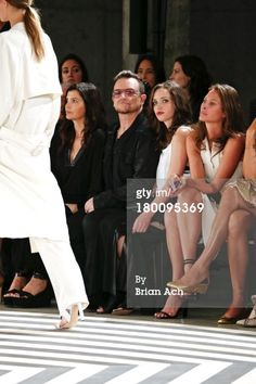 Bono, Ali and daughter Jordan Hewson at Edun's Spring 2014 fashion show - Mercedes-Benz Fashion Week Spring 2014 - Skylight Modern in New York City, September 8, 2013. #2013 #u2NewsActualite #u2NewsActualitePinterest #u2 #bono #PaulHewson #music #rock #AliHewson #AlisonHewson #JordanHewson #new news #actualite #picture http://officia11y.tumblr.com/