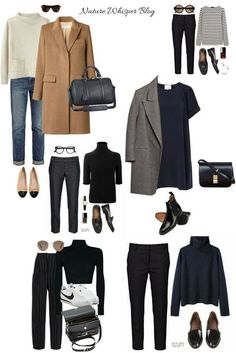 style: My simple yet chic autumn .- Personal style: My simple yet chic fall style picks – MadeByHind - style: My simple yet chic autumn .- Personal style: My simple yet chic fall style picks – MadeByHind - What to Wear to Paris in the Fall Capsul. Capsule Outfits, Fashion Capsule, Mode Outfits, Fashion Outfits, French Capsule Wardrobe, Classic Wardrobe, French Wardrobe Basics, Closet Basics, Classic Outfits