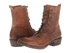 Frye Carson Lug Lace Up Dark Brown Stone Antiqued - 6pm.com