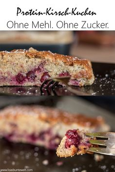 cherry cake - A healthy cake made from ingredients like protein powder, oatmeal and cherries. Prepared without an -Protein cherry cake - A healthy cake made from . Protein Desserts, Protein Smoothie Recipes, Protein Cake, Low Carb Protein, Protein Foods, Protein Muffins, Protein Cookies, Healthy Protein, Mug Cakes