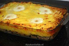 Spinazie ovenschotel met gehakt en ei