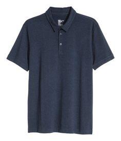 Polo shirt   Dark blue   Men   H&M ZA