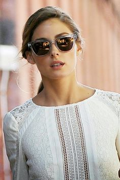 Sunnies + white top