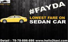 Lowest Fare ever !! Book our taxi and get lowest fare !! #Best #car #rental #service #provider #ahmedabad #any #types #of #car #hire #like #Hire #indica #hire #innova #dezire #Tavera #best #taxi #cab #provider #ahmedabad CALL : 78-78-886-886 www.hello2taxi.com