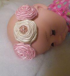 Ribbon Rose Headband  #handmade  #thecraftstar  $6.00