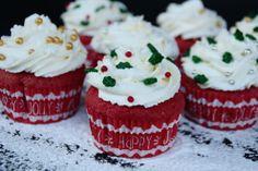 red sponge cupcakes