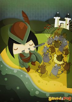 The Pied-Piper of Hamelin by SquidandPig www.squidandpig.com