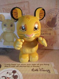 "DISNEY VINYLMATION 3"" ANIMATION SERIES YOUNG SIMBA THE LION KING TOPPER & CARD 