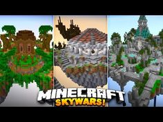 NEW EPIC MAPS! (Must See)   Minecraft SOLO SKYWARS