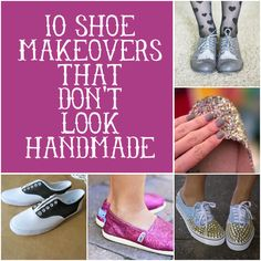 Ten DIY Shoe Makeovers (that don't look handmade) via Hey Look At Me