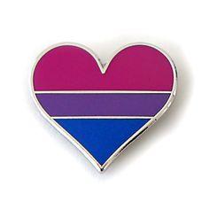 Bisexual pride pin gay lapel pin bisexual flag pin heart