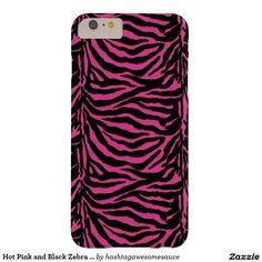 Hot Pink and Black #Zebra Stripe #Phone 6 Case    #zazzle