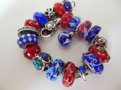 Star-Spangled Summer Bracelet! Join the Forum and take part in our contest to win Trollbeads! http://trollbeadsgalleryforum.ning.com/