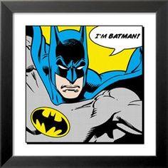 Jeg er Batman, på engelsk Plakater på AllPosters.dk