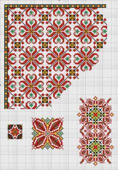 Cross Stitch Borders, Cross Stitch Rose, Cross Stitch Flowers, Cross Stitch Designs, Cross Stitching, Cross Stitch Patterns, Embroidery Patterns Free, Hand Embroidery Stitches, Beaded Embroidery